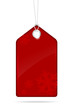 Red christmas price tag - vector file