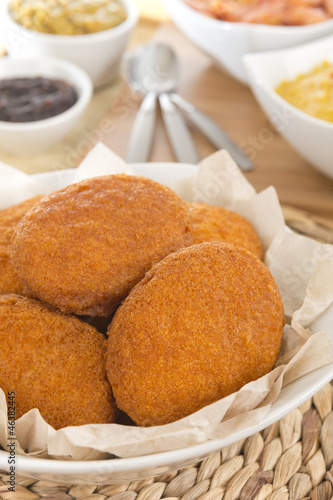 Acaraje - Brazilian fritters made with black-eyed peas