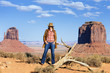 the cowgirl at Monument Valley