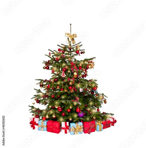 geschm ckter christbaum stockfotos und lizenzfreie bilder auf bild 46382602. Black Bedroom Furniture Sets. Home Design Ideas