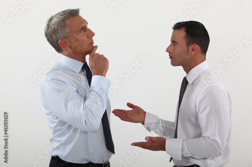 Businessmen in discussion