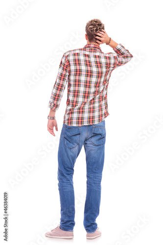 confused young casual man
