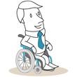 Geschäftsmann, Rollstuhlfahrer