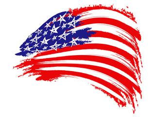 USA Flag Sketched
