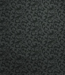Black vintage seamless pattern