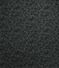 Black vintage seamless pattern