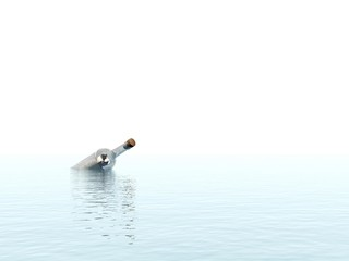 Lost message in the ocean