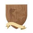Wooden board for hunters - vector illustration