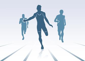 Race background - vector illustration