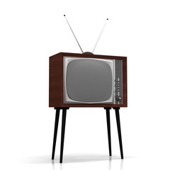 Old TV on legs with antenna