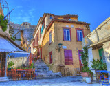 Traditional houses in Plaka area under Acropolis ,Athens,Greece - 46388625