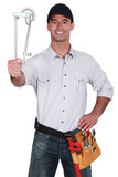 A handyman with a tool-belt.