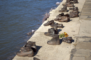 Shoes on the Danube Promenade, Budapest (Hungary)
