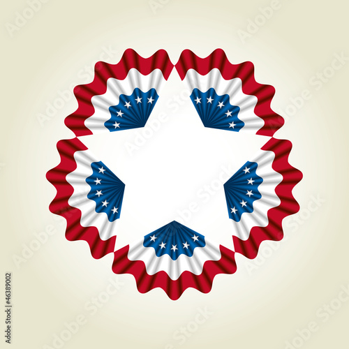 Coccarda bandiera USA - cockade USA flag