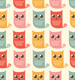 owls seamless patern