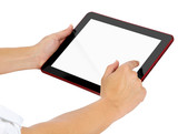 touching tablet pc incl. clipping paths