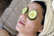 Natural Home Face and Eye Treatment with Cucumber