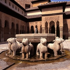 Lion fountain, Alhambra Palace, Granada © Arena Photo UK