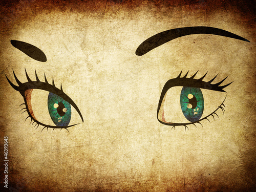 Woman eye in grunge