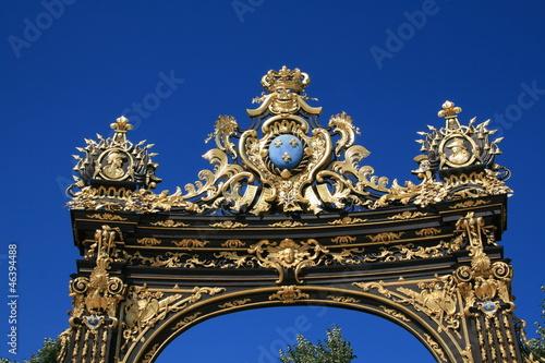 Détail d'une fontaine de la place Stanislas