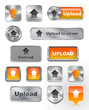 Collection of Upload metallic and glossy buttons