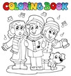Coloring book carol singing theme 1
