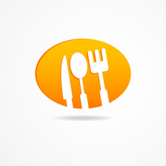 Abstract set kitchen cloud icon