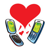 Cell Phones talking about Love