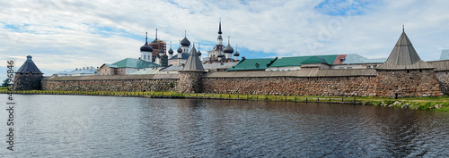 Panorama of Solovetsky Monastery, Russia
