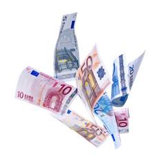 Fliegende Euroscheine