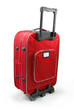 Red travel suitcase (trolley) - isolated
