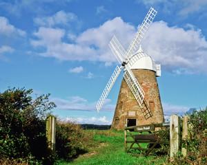 Halnaker Windmill, open gate.