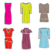 Dresses icon set