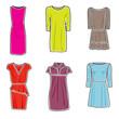 Dresses icon set