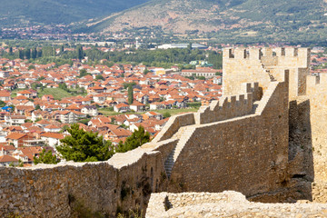 View on Ohrid from old fort.