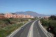 A7 motorway near Manilva, Andalusia, southern Spain
