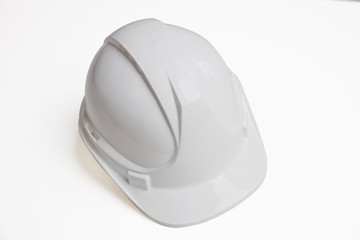 Close-up of hard hat over white background