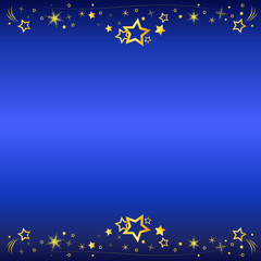 star fall vector background