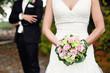 Brautpaar und Strauß