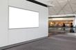 empty billboard in airport