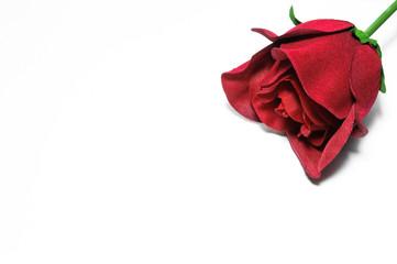 Rosa rossa di stoffa