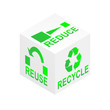 Reduce Reuse Recycle Cube