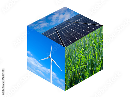 Renewable Energy Cube - 46404488