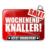 Wochenend-Knaller! Button, Icon