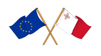 European Union and Malta alliance and friendship