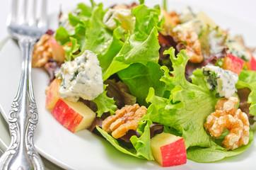 Waldorf salad close-up.