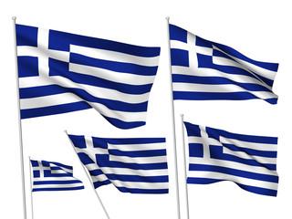 Greece vector flags
