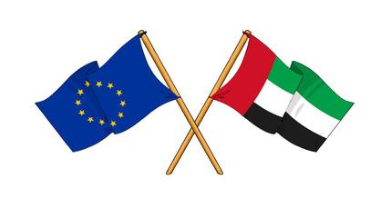 European Union and United Arab Emirates alliance and friendship