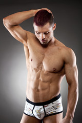Fit and muscular young man