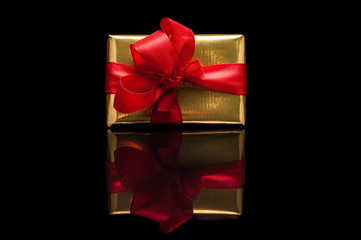 Christmas gifts, isolated on black